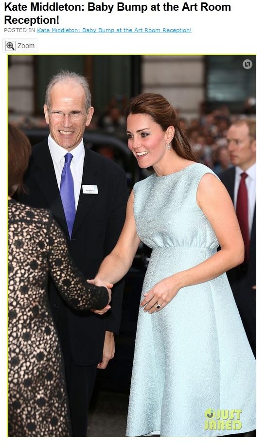 """""""Allô ?T'es enceinte et t'as pas de baby-bump ? Non mais allô, quoi !"""" Capture d'un site de presse people. Voilà enfin la photo d'une future maman vaguement gironde, Kate est une femme comme les autres ! Ouf, on en doutait..."""