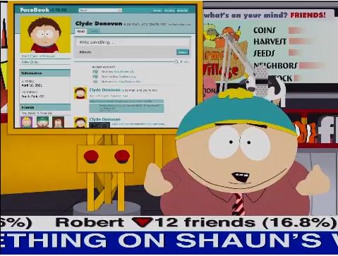 Facebook, ton univers impitoya-a-ble ! Cartman ferait passer J.R pour un bisounours texan...