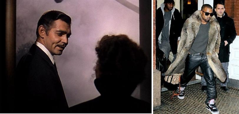 """Quand Kanye West et son manteau de mémère arrivent, Rhett Buttler jette l'éponge...""""Franckly my dear, I don't give a damn...'"""