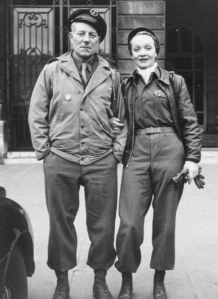 Marlene Dietrich et Jean Gabin. Tous deux ont combattu le nazisme.