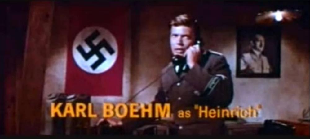 Karlheimz Böhms en nazi dans Les Quatre Cavaliers de l'Apocalyse, 1962