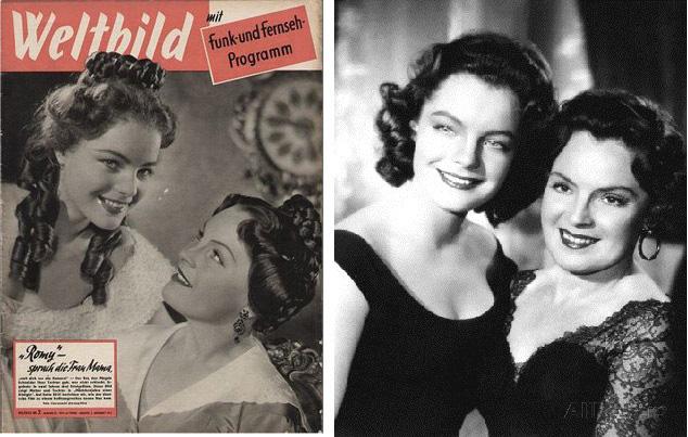 Dans les années 50 : le duo mère-fille dans des bluettes impériales efface le passé nazi de l'Allemagne et de l'Autriche