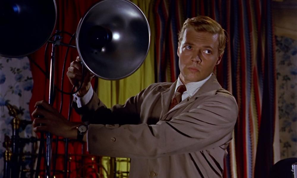 Karlheimz Bohm dans Le Voyeur, 1962, film qui choqua son public au point d'en stopper sa carrière en Allemagne...