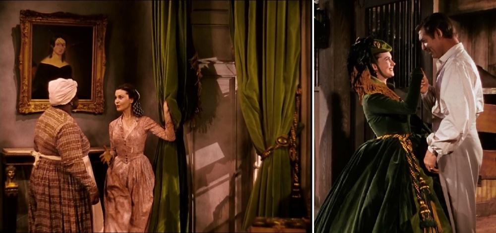 Scarlett O'Hara n'a pas attendu l'Age d'Or pour reconvertir les tentures de Tara en robe chic et choc. Même Rhett en reste pantois...