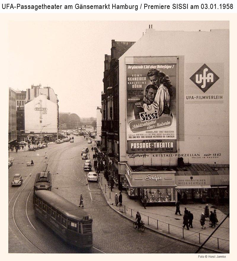 Affiche d'un des Sissi à Hambourg dans les années 50.