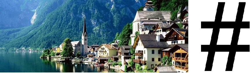 Ne pas confondre Hallstatt, le joli village autrichien hyper touristique, et Hashtag, le moche signe typographique usé sur Twitter...