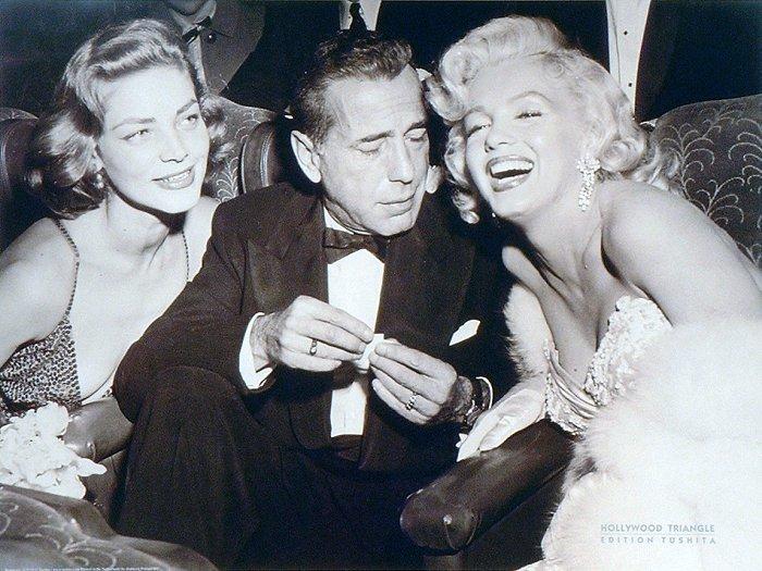 Brochette de stars : Lauren, Humphrey et Marilyn lors de la première de Comment épouser un millionnaire ?