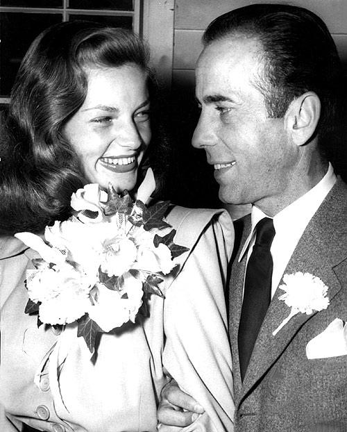 Betty et Bogey se marient en 1945.