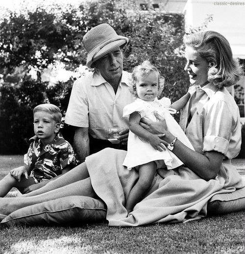 Bogart Family : Sam le mini-Bogey, Humphrey, Leslie et Lauren.