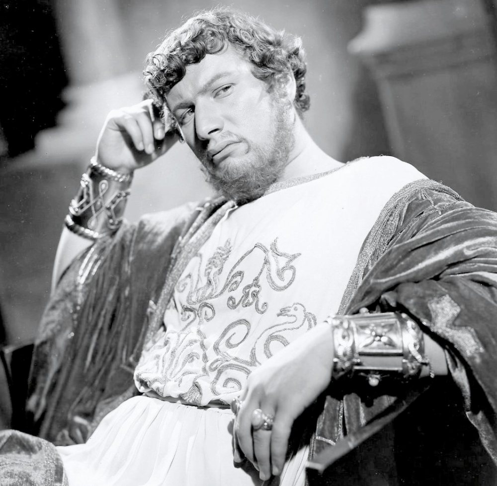 "Peter Ustinov en Néron dans ""Quo Vadis"", 1951."
