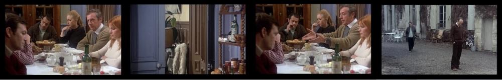 Oh, oh... la colère de Michel a jeté un froid... Heureusement, il y a Yves Montand pour rappeler que le gigot refroidi... les absents ont toujours tort... Pendant ce temps, Reggiani part s'excuser auprès de Michel qui boude...