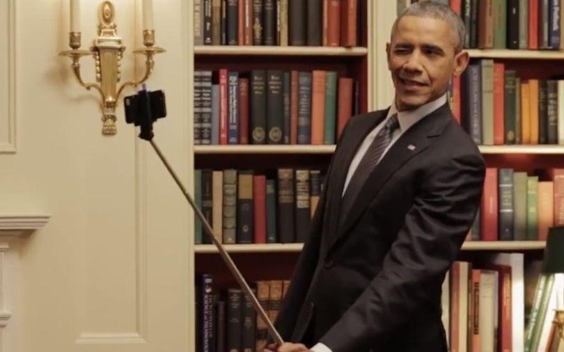 La perche à selfie ? Même Barack Obama est dubitatif...