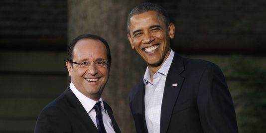 Barack Obama et François Hollande.