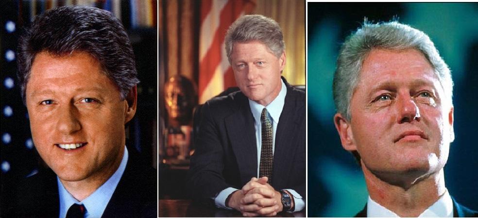 Elu en 1992 à la présidence des Etats-Unis, le physique et le charisme de Bill Clinton ont longtemps était comparé à Kennedy.