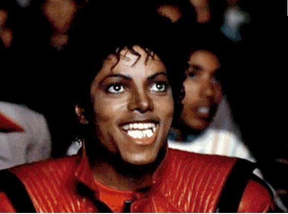 Mangeur de pop-corn en pleine ascension... (Photo de Michael Jackson dans le clip de 'Thriller', 1982)